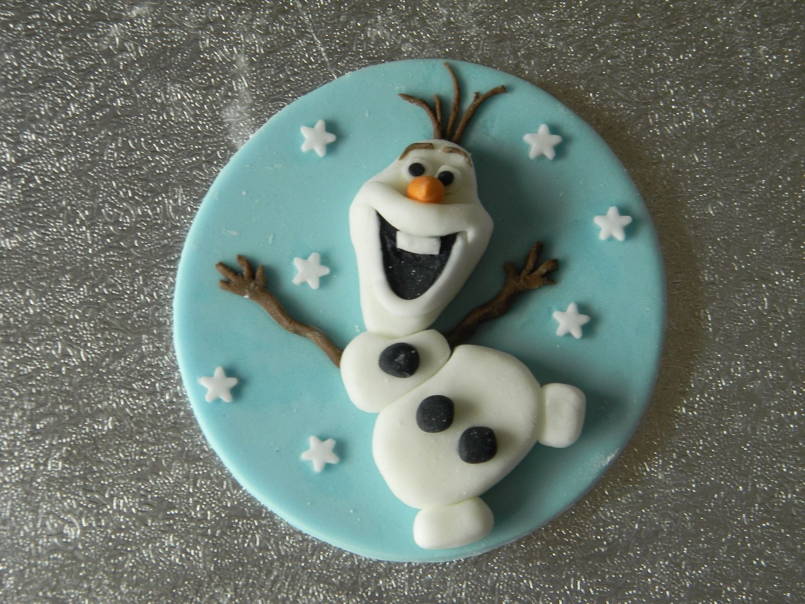 Fabulous Handmade Olaf Snowman Frozen Birthday Edible Cake Topper With Name Funny Birthday Cards Online Fluifree Goldxyz